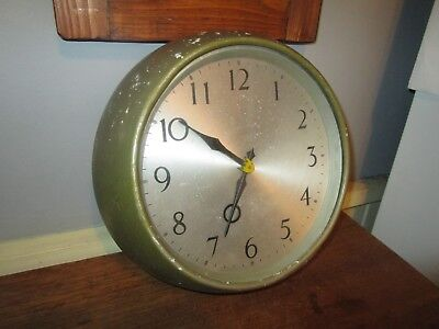 Vintage / Retro Smiths Wall Clock / Smiths wind up wall Clock.School /Factory