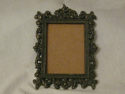 Ornate Vintage Small Italian Frame Scroll Detailed Style Antique