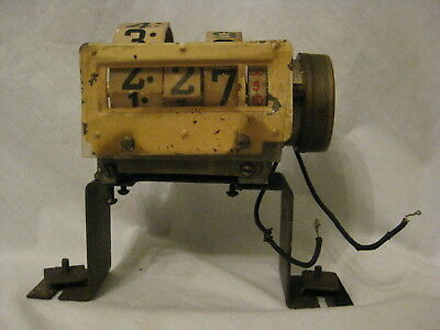 """rare vintage clock parts rotary numeral USA electric """"Tele Vision    antique?"""