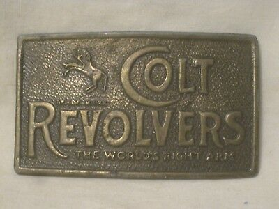 vintage COLT REVOLVERS Belt buckle The World's Right Arm *metal reproduced