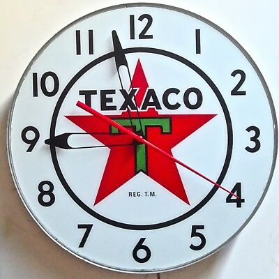 Vintage Texaco Lighted Clock  Dated March 1958  Excellent Condition