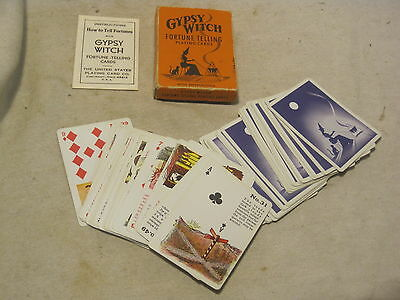 vintage GYPSY WITCH Fortune Telling playing cards card deck w/ instructions