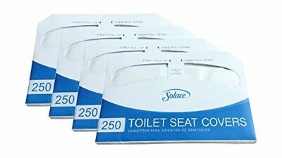 Toilet Seat Covers - Paper Disposable - Half Fold - 1000 Count (4 Packs of 250)