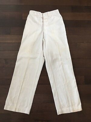 Vintage Us Navy Ww2 Wwii Naval Cotton Trousers 1940S