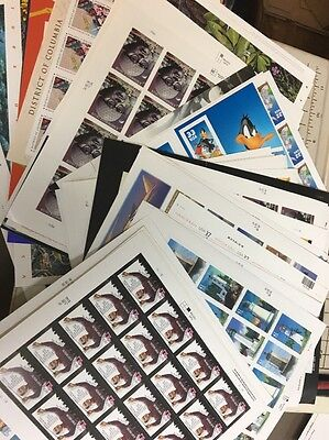 Self Stick Sheets Postage Stamps. Nice Assortment $500.00 Face Value.All new.
