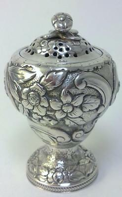 Georgian hallmarked Sterling Silver Pounce Pot – 1817 by George Knight