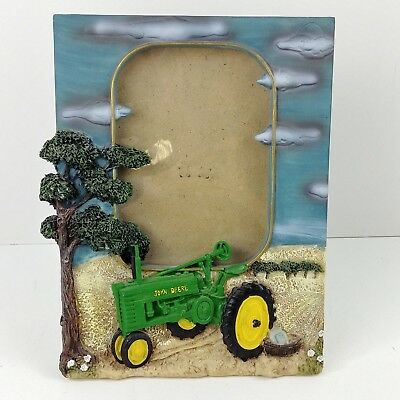 ie John Deere Tractor Photo Frame Holds 4 x 6 Resin Picture Frame