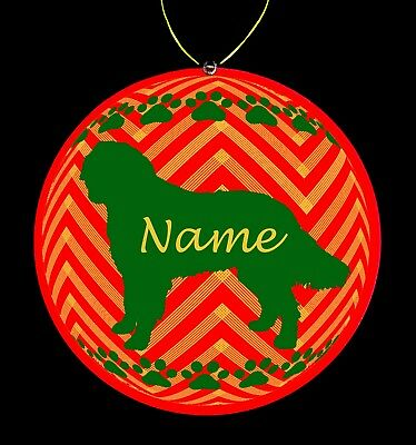 Bernese Mountain Dog Dog Breed Personalized Christmas Ornament