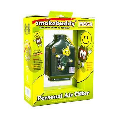 Smoke Buddy MEGA Personal Air Purifier Cleaner Filter Removes Odor (Green)