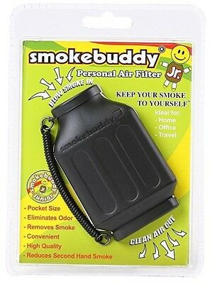 Smoke Buddy Junior Personal Air Purifier Cleaner Filter Removes Odor (Black)