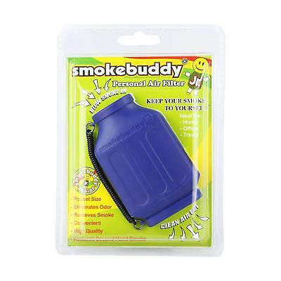 Smoke Buddy Junior Personal Air Purifier Cleaner Filter Removes Odor (Blue)