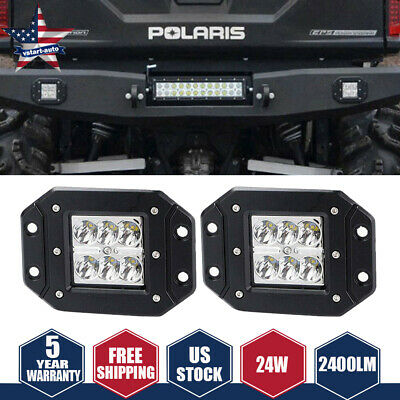 DOT Led Lights Flush Mount Backup Reverse Front Rear Bumper Cube Pods Fog Lamp