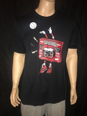 new arrival 1d9a7 f5f6d Nike Men s AIR JORDAN Retro 5 Raging Bull Black Red 69 Points T-SHIRT TEE