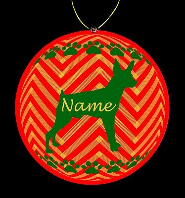 Miniature Pinscher Dog Breed Personalized Christmas Ornament