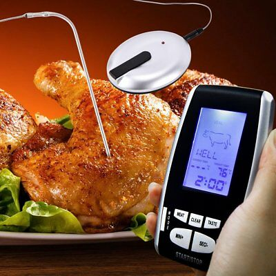Digital Thermometer LCD BBQ Grill Meat Kitchen Oven Food Cooking Remote Wireless
