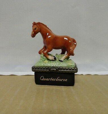 Quarterhorse with Horseshoe PHB Midwest of Cannon Falls Trinket Box with Box