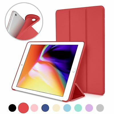 For Apple iPad 9.7 5/6th Gen Smart Wake Leather &Silicone Luxury Slim Case Cover