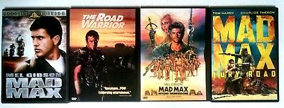 Mad Max, The Road Warrior, Beyond Thunderdome, Fury Road (DVDs) 1 2 3 4