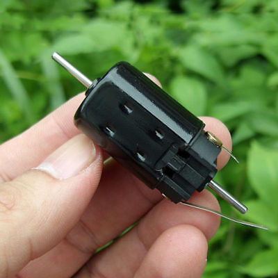 DC 12V-24V High Speed 5-Pole Rotor Motor 13mm long Dual Shaft DIY Toy Car Boat