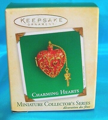 Hallmark Miniature Ornament 2004 Charming Hearts-2nd In Series-Opens