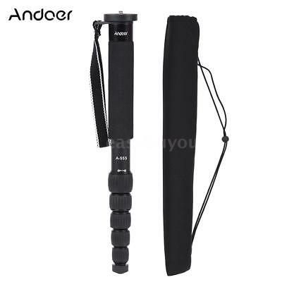 Andoer 6 Section Compact Photography Alloy Monopod Unipod Stick for DSLR Camera