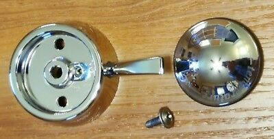 (NEW) Chrome Delta RP52585 Single Metal Lever Handle - Temp. Knob and Cover