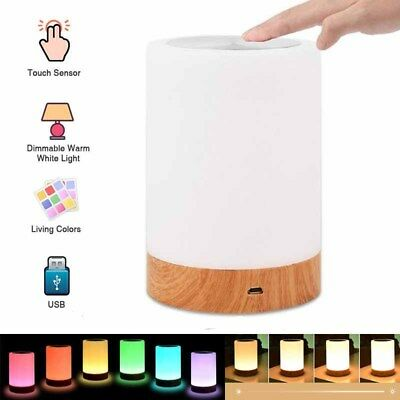 USB Battery Rechargeable Touch Bedside Table Lamp Dimmable Night Light Portable