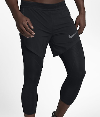 65c87c8349be NIKE AEROSWIFT MEN S 2-IN 1 3 4 HYBRID Running Tights 852321-457 ...