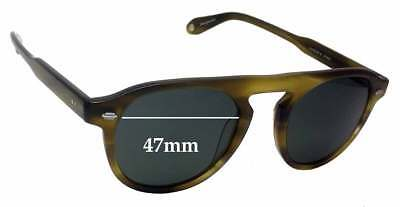 SFx Replacement Sunglass Lenses fits Garrett Leight Harding S - 47mm wide