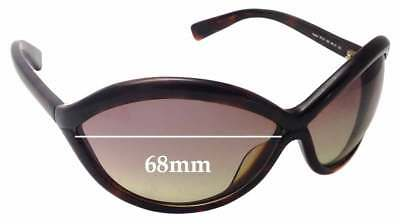 68f73da4ea SFx Replacement Sunglass Lenses fits Tom Ford Sophia TF121 - 68mm Wide