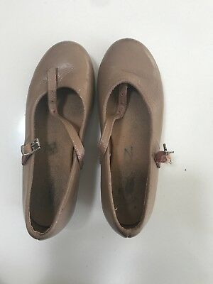 Bloch Girls Tan Tap Child Shoes Size 13