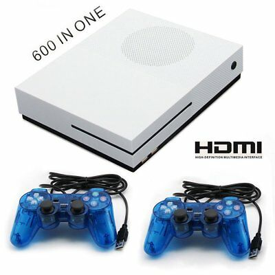 64 bit Consola de juegos de 4GB HD-HDMI TV Built-in 600 Games 2 Mando