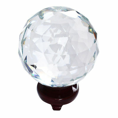Clear Cut Crystal Sphere 110MM Faceted Gazing Ball Prisms Suncatcher Home Decor