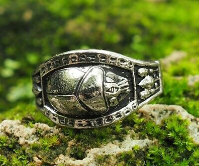 Ancient Egyptian Scarab Beetle ring, Egyptian Scarab Ring 925 Sterling Silver