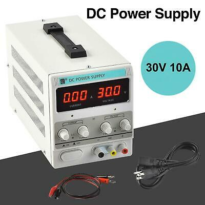 LED 30V 10A Adjustable DC Power Supply Precision Dual Digital Lab 110V US Plug