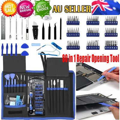 Pro 80 in 1 Repair Opening Tool Kit Screwdriver Set Multi function For iphone AU