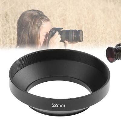 Lens Hood 37 39 46 52 77mm Wide angle Metal Camera Filters Lens Shade Cover Case