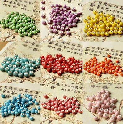 6MM Ceramic Beads Loose Beads Diy Accessories Charms Bracelet Necklace Jewelry