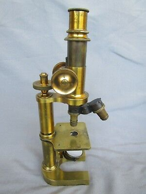 Rare Antique German Brass Microscope J. Klönne & G. Müller Berlin c.1880