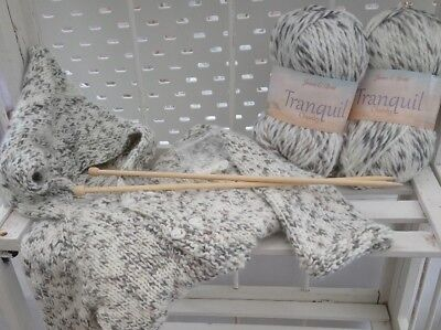Child's Hoodie Knitting Kit Age 0 - 6 months pastel colours