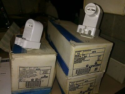 NEW Leviton 464 & 465 Lamp Holders HO T12 T8  White Fluorescent NIB