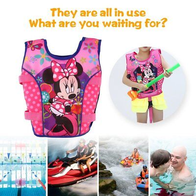 Cartoon Toddler Life Jacket Kids Swim Vest Swimming Float Bubble Swimsuit G6