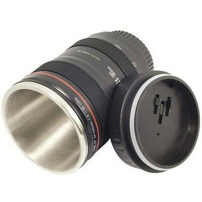Lens Cup Mug Camera Coffee Stainless 24 Thermos Travel Tea Steel Canon Lid 105mm
