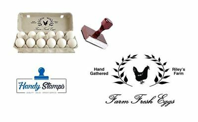 """Large Traditional Custom Rubber EGG BOX Stamp - 5"""" x 2 7/8"""""""