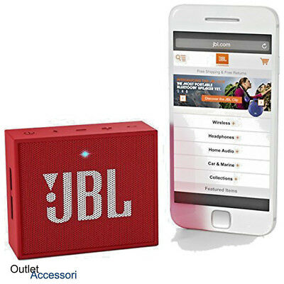 JBL GO Speaker Bluetooth Portatile Mini Vivavoce Altoparlante Rosso MP3 Aux-IN