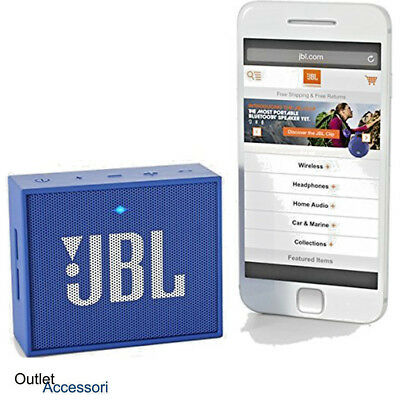 JBL GO Speaker Bluetooth Portatile Mini Vivavoce Altoparlante BLU MP3 Aux-IN usb