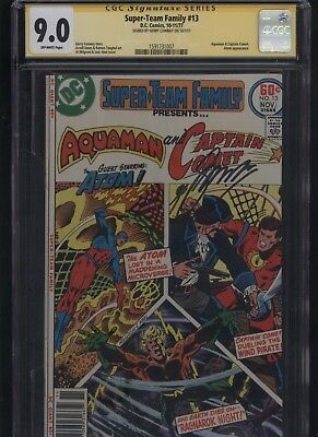Super-Team Family #13 CGC 9.0 SS Gerry Conway AQUAMAN The Atom 1977