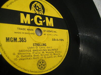 George Shearing Qiuntet: Strolling/ Changing With Times  - 1950 UK