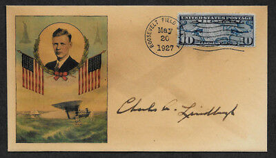 Charles Lindbergh collector envelope w original period stamp 90 years old *O1173