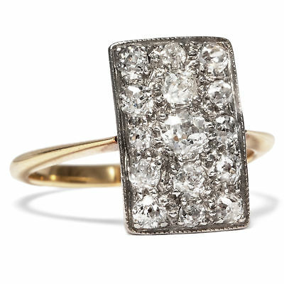 Antiker Diamant Ring in 750 Gold & Platin, um 1910, Diamanten / Verlobungsring